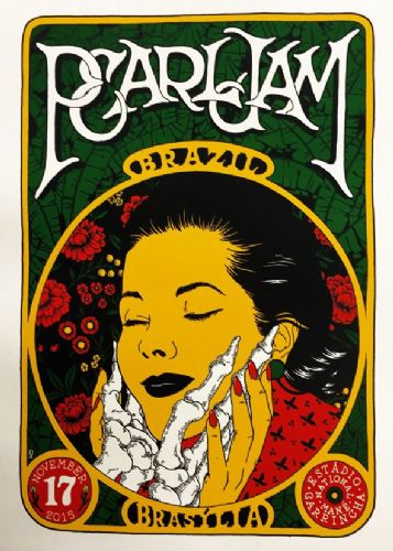 PEARL JAM - LIVE @ BRAZIL canvas print - self adhesive poster - photo print